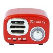 Radio Speaker Bluetooth Wireless, Design Radio Classico, rosso