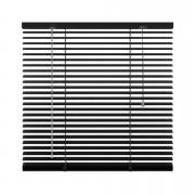 Horizontale jaloezie aluminium 25 mm - zwart - 100x180 cm - Leen Bakker