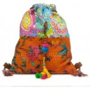 The House of Tara Kantha Work Slim 10 L Backpack(Multicolor)