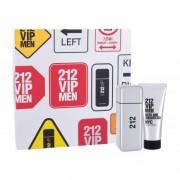 Carolina Herrera 212 VIP Men set cadou EDT 100 ml + Gel de dus 100 ml pentru bărbați