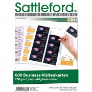 Sattleford 600 Business-Visitenkarten 86 x 54 mm, beidseitig bedruckbar, 250 g/m²