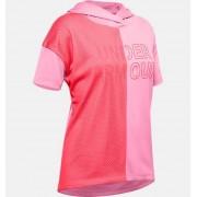 Under Armour Girls' UA Tech™ Short Sleeve Hoodie Pink YXL