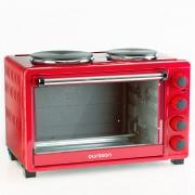 Cuptor electric Oursson MO3030/RD, 1500W, 30 L, 2 plite electrice incorporate, max 230°C, Pereti catalitici, Rosu