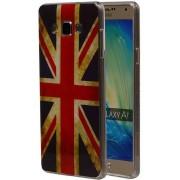 Samsung Galaxy A7 2015 A700F Hoesje Amerikaanse Vlag TPU USA