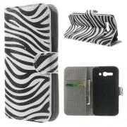 B2Ctelecom Alcatel One Touch Pop C9 Hoesje Zebra met Opbergvakjes