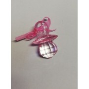 Marturie suzeta cristal roz 4cm