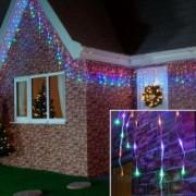 Instalatie de Craciun Flippy Tip Turturi cu Flash 6 m 180 LED-uri Interconectabila Multicolor