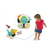 Pull Toy Pull - Along Duck Whistles As Toddlers Pull It (With Bead Coaster)