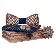 Dřevěný motýlek s kapesníčkem a knoflíčky Gaira 709203