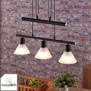 Lampenwelt.com Suspension LED noire Eleasa, easydim - LAMPENWELT.com