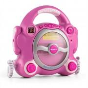 Auna Pocket Rocker, розова, караоке система с CD плейър, Sing A Long, 2 микрофона, батерии (KS4-Pocket Rocker)