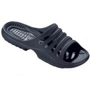 Beco Bad/sauna slippers met voetbed navy blauw dames 38 - Badslippers