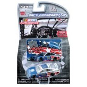 2016 Dale Earnhardt JR #88 Nationwide Salutes Red White Blue Special Paint Scheme 1/64 Scale Diecast Lionel NASCAR Authentics With Collector Card