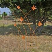 Treillage Papillon Fer Forgé 132x3x77 cm