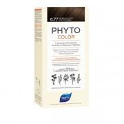 Ales Groupe Italia Spa Phyto Phytocolor 6.77 Marrone Chiaro Cappuccino 1 Latte + 1 Crema + 1 Maschera + 1 Paio Di Guanti