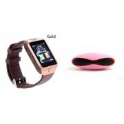Mirza DZ09 Smartwatch and Rugby Bluetooth Speaker for LG OPTIMUS G PRO(DZ09 Smart Watch With 4G Sim Card Memory Card| Rugby Bluetooth Speaker)