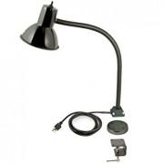 Reflector with light E27 lamp socket 15cm with flex arm C clamp YA5037 – Lampa Foto Studio cu brat si prindere in forma de U