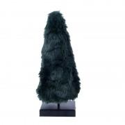 Xenos Kerstboom fake fur groen - 12x12x43 cm - S
