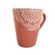 Cana MANDALA culoare Caramiziu 300 ml Ceramica