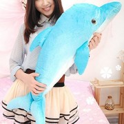 Lazada Large Ocean Stuffed Animals Skyblue Realistic Dolphin Baby Dolls Toys 35.5''