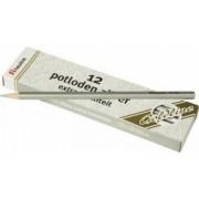 Set 12 creioane hexagonale Goldline Argintiu metalic - Heutink