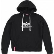 Alpha Industries New Basic Felpa con cappuccio da donna, nero, dimensione M per donne