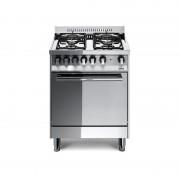 Lofra M65mf 60x50 Cucina Con Piano In Acciaio Lucidato A Specchio - 4 Fuochi A Gas - Forno Multifunzione Elettrico Da 57 Lt, A