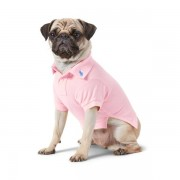 Ralph Lauren Pet Cotton Mesh Dog Polo Shirt - Carmel Pink - Size: Medium