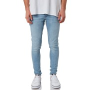 Cheap Monday Him Spray Mens Poly Cotton Stretchy Jeans Stone Bleach Stone Bleach