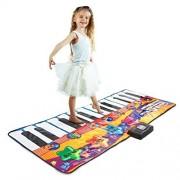 "Joyin Toy Gigantic Piano Fun Colorful Dancing Mat 71""-24 Keys Kids Electronic Keyboard Music Playmat Toy"