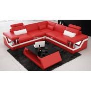 items-france RIMINI 1 - Canape d'angle cuir 4 places 259x259