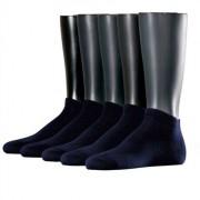 Esprit Solid 5-Pack Men Sneaker Socks Marine