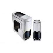 Gabinete AeroCool BattleHawk White 2 Ventiladores USB3 Led Azul-Blanco