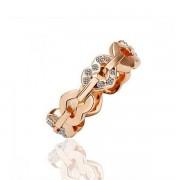 Apró kristályokkal díszített, szív formájú gyűrű