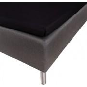 Borg Design Kuvertlakan - 100% Bomullssatin - Svart - 120x200x8 cm