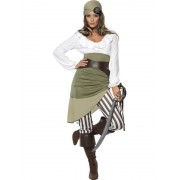 Costum carnaval femei pirat verde