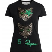 5 PROGRESS T-shirt 5 Progress Double Cat nera