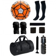 Combo of Ordem Orange/White Football (Size-5) with 7 Other items