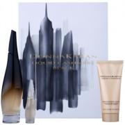 DKNY Liquid Cashmere Black lote de regalo I. eau de parfum 100 ml + eau de parfum 7 ml + leche corporal 100 ml