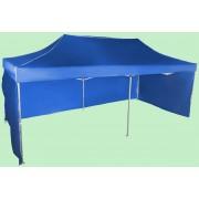 Gyorsan összecsukható sátor 3x6m - alumínium, Kék, 3 oldalfal