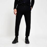 river island Mens Black knitted joggers (XS)