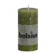 Bolsius Stompkaars 100/50 rustiek Olijfgroen