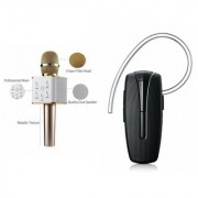 Clairbell Q7 Microphone and HM1100 Bluetooth Headset for HTC DESIRE 200(Q7 Mic and Karoke with bluetooth speaker | HM1100 Bluetooth Headset With Mic)