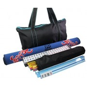 """We pay your sales tax 31. 5"""" Mah Jong Gaming Tabletop Cover + 166 Tiles Black Bag with Blue Stitiches American Mahjong Set - US Seller"""