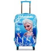 N-Blues N BLUES Disney Frozen Elsa Polycarbonate 17 Inchs Blue Hard Sided Kid'S Luggage Trolley Bag Cabin Luggage - 17 inch (Blue) Check-in Luggage - 23 inch(Blue)
