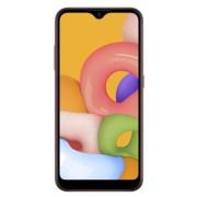 "Telefon Mobil Samsung Galaxy A01, Procesor Snapdragon 439, Octa-core, PLS TFT Capacitive touchscreen 5.7"", 2GB RAM, 16GB Flash, Camera Duala 13+2MP, 4G, Dual Sim, Wi-Fi, Android (Rosu) + Cartela SIM Orange PrePay, 6 euro credit, 6 GB internet 4G, 2,000 mi"