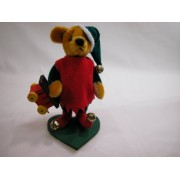 "World Of Miniature Bears 2.75"" Velvet Elwin #866 Collectible Miniature Bear Made By Hand"