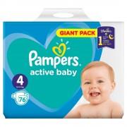 PAMPERS Active Baby vel.4 Dětské pleny 9-14kg 76 ks