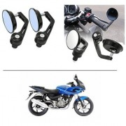 AutoStark 7/8 22cm Motorcycle Rear View Mirrors Handlebar Bar End Mirrors - Bajaj Pulsar 220 DTS-i