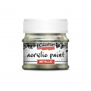 Pentart Metál csillogó zöld színű akril bázisú hobbi festék 50 ml